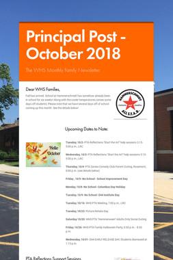 Principal Post -October 2018