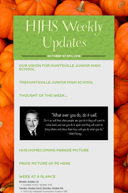 HJHS Weekly Updates