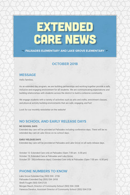 Extended Care News