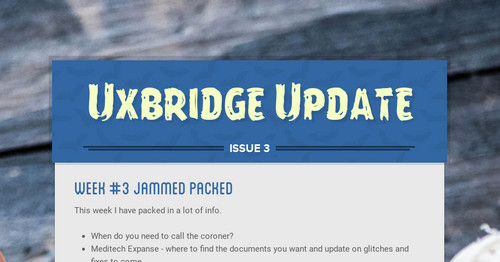 Uxbridge Update | Smore Newsletters for Business