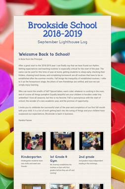 Brookside School 2018-2019