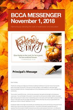 BCCA MESSENGER  November 1, 2018