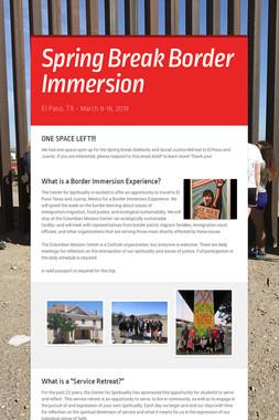 Spring Break Border Immersion