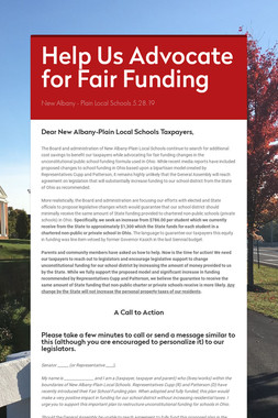 Help Us Advocate for Fair Funding