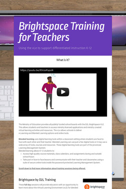 Brightspace Training for Teachers