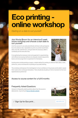 Eco printing - online workshop