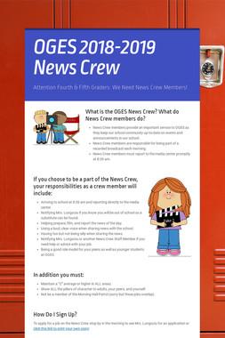 OGES 2018-2019 News Crew