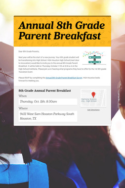 Annual 8th Grade Parent Breakfast
