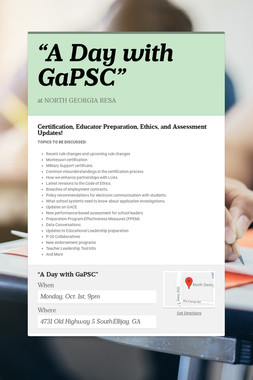 """A Day with GaPSC"""