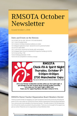 RMSOTA October Newsletter