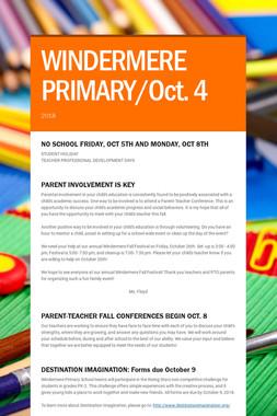 WINDERMERE PRIMARY/Oct. 4