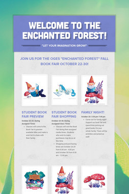 Welcome to the Enchanted Forest!