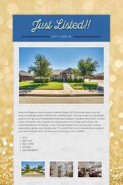 Just Listed!!