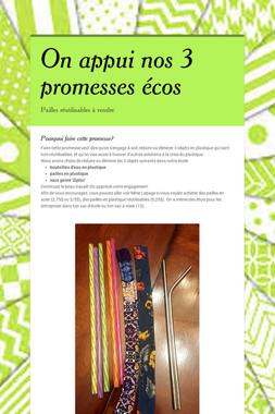 On appui nos 3 promesses écos