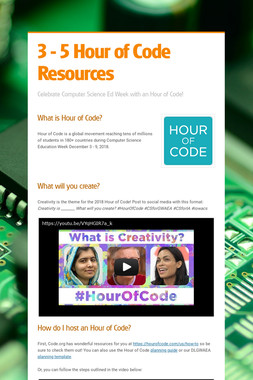3 - 5 Hour of Code Resources