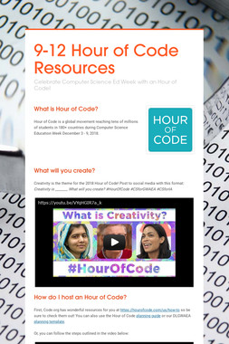 9-12 Hour of Code Resources