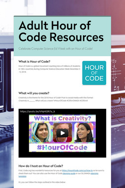 Adult Hour of Code Resources