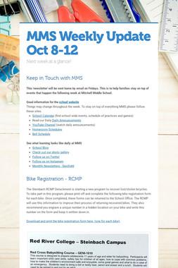 MMS  Weekly Update Oct 8-12