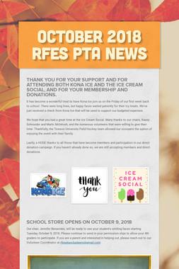 October 2018 RFES PTA News