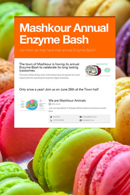 Mashkour Annual Enzyme Bash