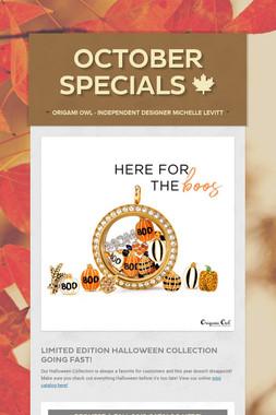 October Specials 🍁