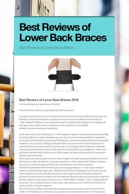 Best Reviews of Lower Back Braces