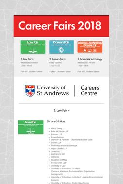 Career Fairs 2018