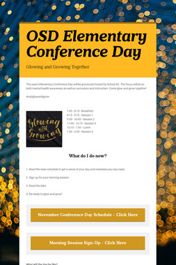 OSD Elementary Conference Day