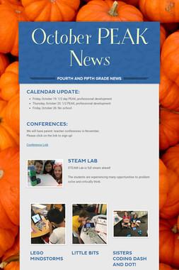 October PEAK News