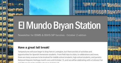 El Mundo Bryan Station | Smore Newsletters for Education