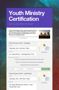 Youth Ministry Certification