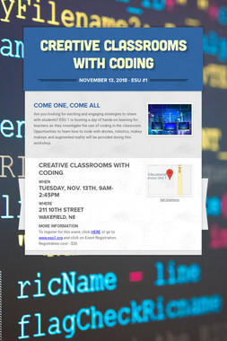 Creative Classrooms with Coding