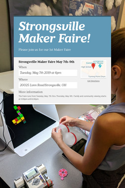 Strongsville Maker Faire!