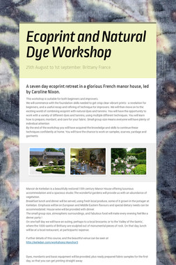 Ecoprint and Natural Dye Workshop