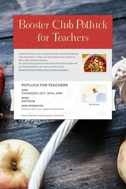 Booster Club Potluck for Teachers