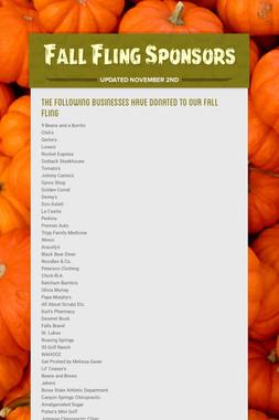 Fall Fling Sponsors
