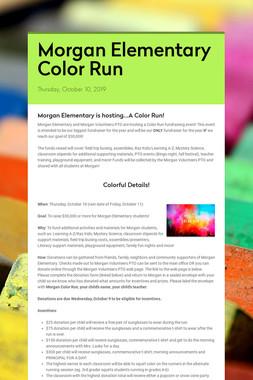 Morgan Elementary Color Run
