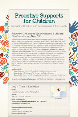 Proactive Supports for Children