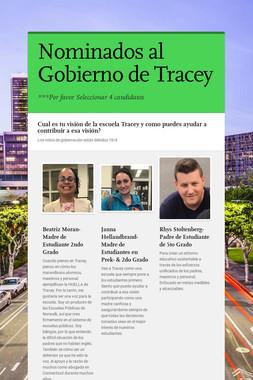 Nominados al Gobierno de Tracey