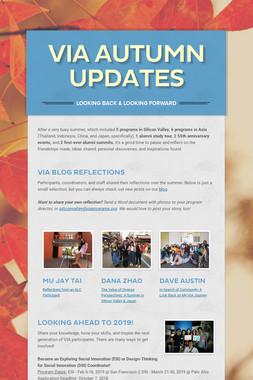 VIA Autumn Updates
