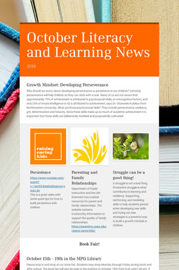 October Literacy and Learning News