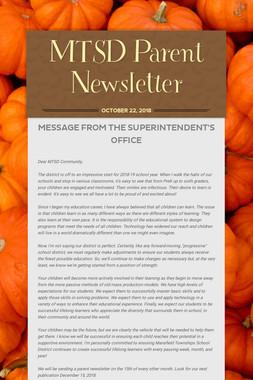 MTSD Parent Newsletter