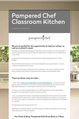 Pampered Chef Classroom Kitchen