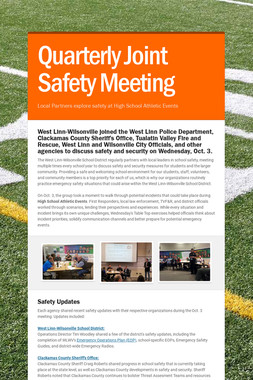 Quarterly Joint Safety Meeting