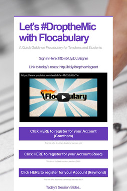 Let's #DroptheMic with Flocabulary
