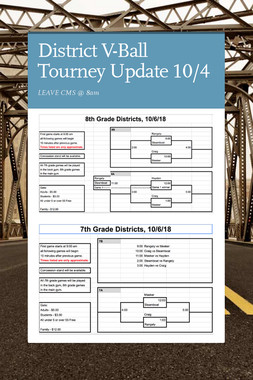 District V-Ball Tourney Update 10/4