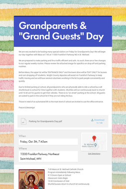 "Grandparents & ""Grand Guests"" Day"