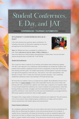Student Conferences, E-Day, and JAT
