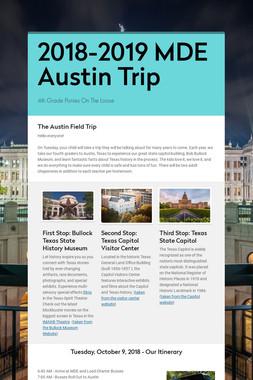 2018-2019 MDE Austin Trip