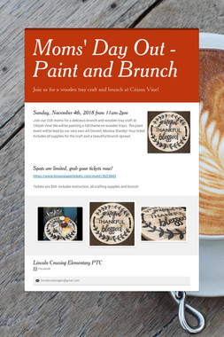 Moms' Day Out - Paint and Brunch